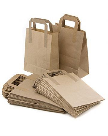 BROWN PAPER CARRIER BAGS SOS - TAKEAWAY BAGS